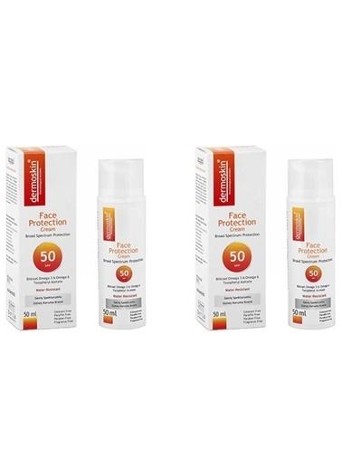 Dermoskin Dermoskin Face Protection Güneş Kremi Spf 50 50 Ml X 2 Adet Renksiz